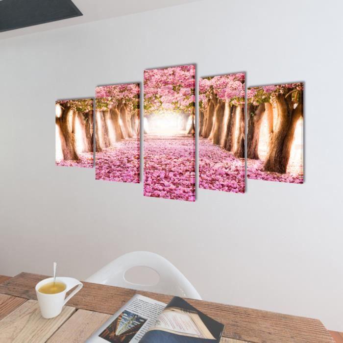 Affordable set de toile murale panneaux romantique motif for Tableau pour chambre adulte romantique