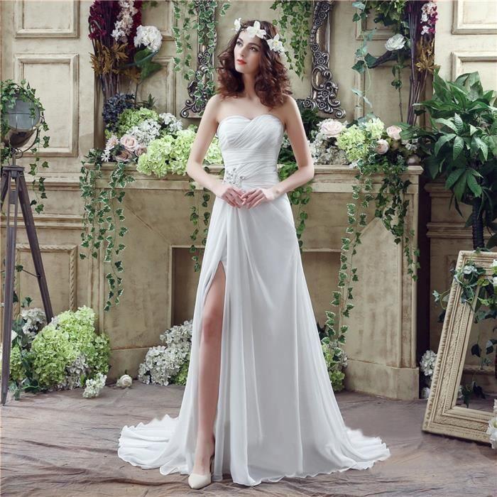 ROBE DE MARIÉE Robe de mariée,mariage de plage longue traîne bust