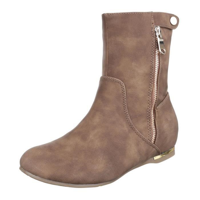 femme Boots bottine chaussure Used Optik