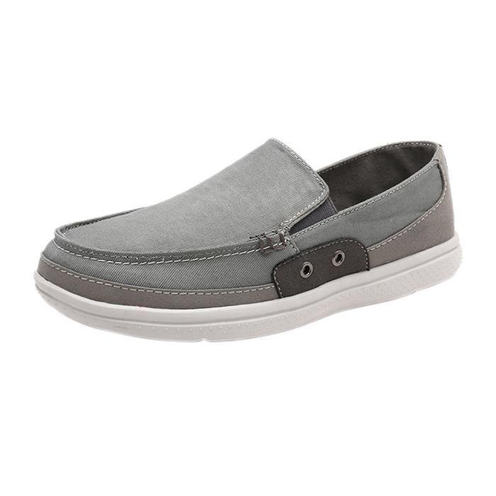 Chaussure Homme Printemps Été Comfortable Respirant Slip On Chaussures LKG-XZ070Noir44 I5SsKbdy