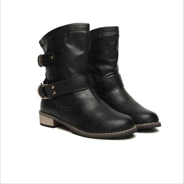 bottines femmes Printemps mode Chaussure Femmes Chaussures Cheville Bottes bottine femme talon Martin Bottes bottes d'hiver bottes F6ieZGiT