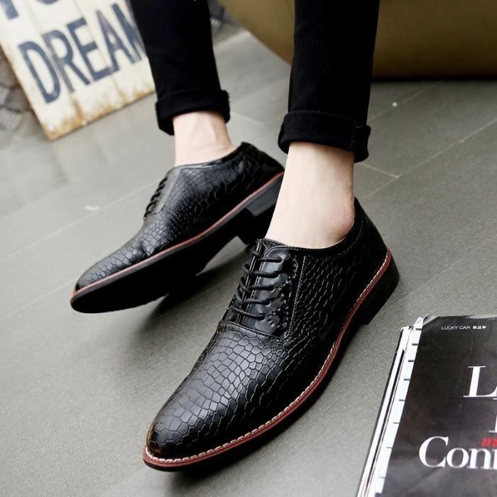 Mocassins en cuir véritable Chaussures Hommes Chaussures Flats Hombre Noir Hommes de Oxfords,or,40,2890_2890