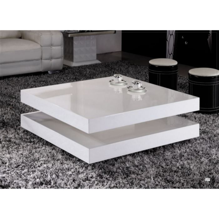 Table basse Laquée Blanche Epure - Achat / Vente table basse Table ...