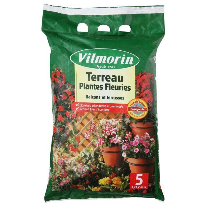 TERREAU - SABLE VILMORIN Terreau Plantes fleuries - 5 L