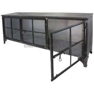 bahut industrielle achat vente bahut industrielle pas cher cdiscount. Black Bedroom Furniture Sets. Home Design Ideas