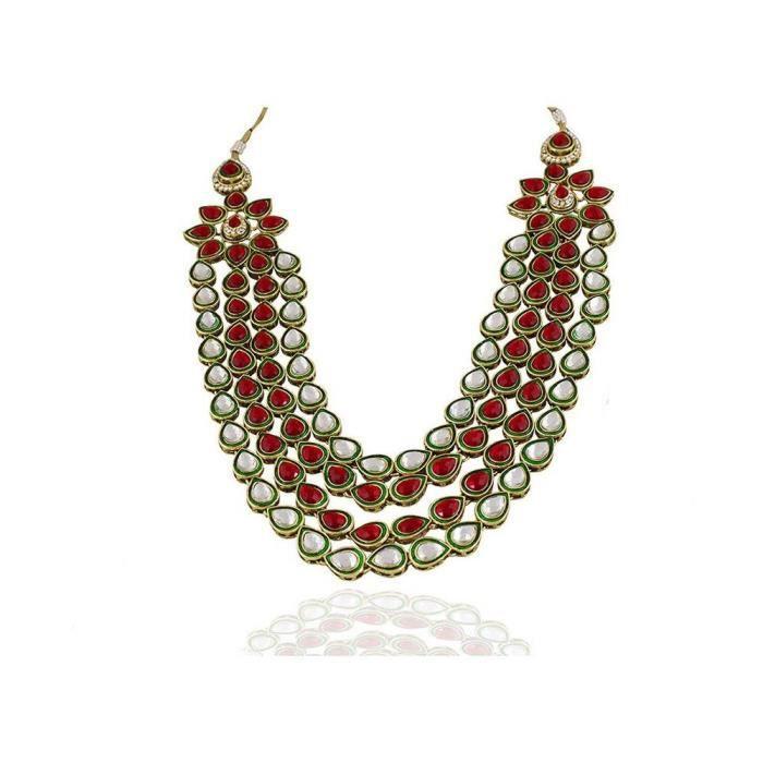 Bijoux plaqué or féminin est pour (rouge) (2000301) P3OWL
