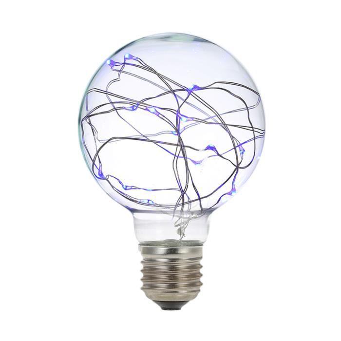 Lumière E27 De Café 220 Lampe Corde Cuivre Ampoule Fil Pour Led Filament Noël Fête En Décoratif Mariage 240v Fée wq51Sq87
