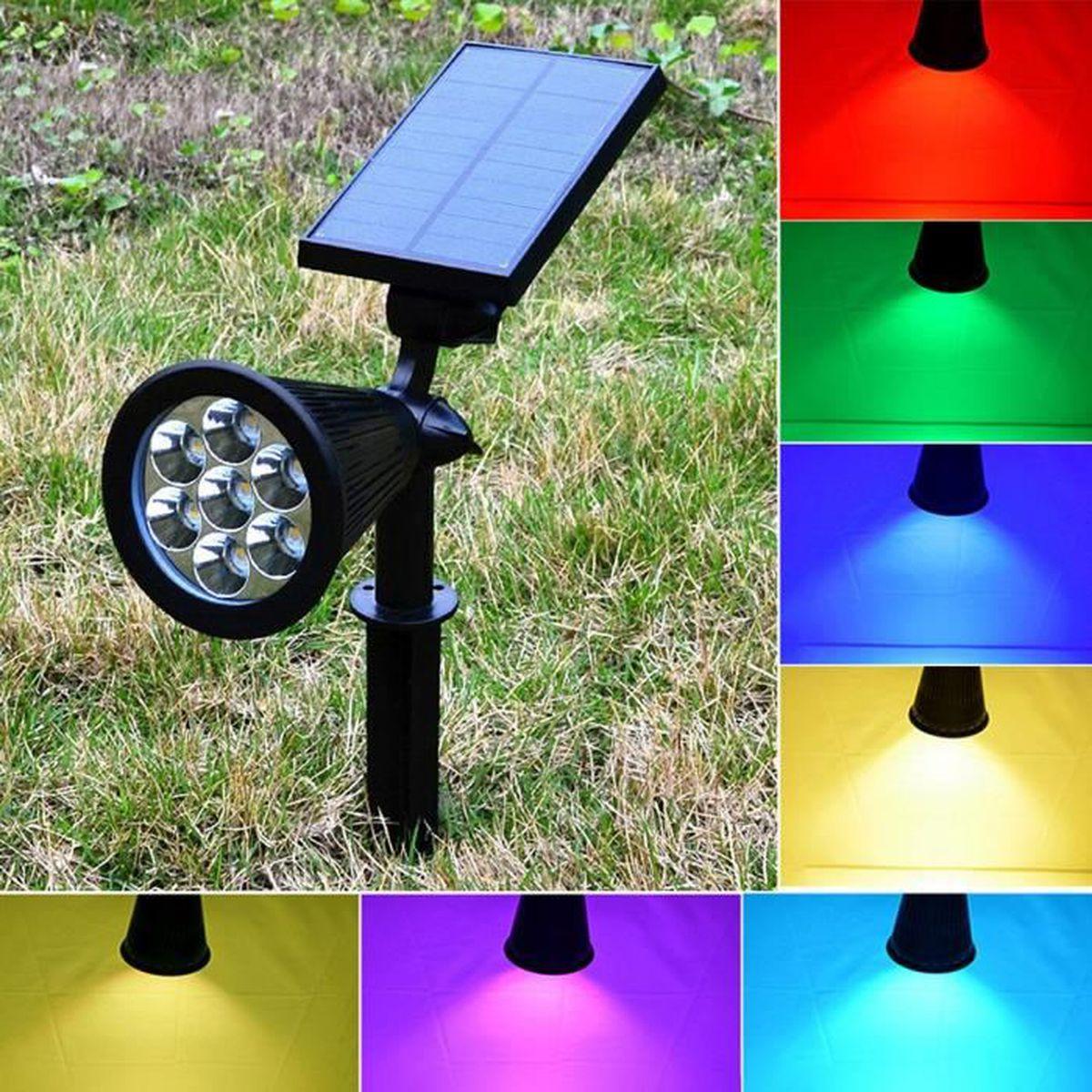 lampe solaire de jardin colorer achat vente lampe solaire de jardin colorer pas cher cdiscount. Black Bedroom Furniture Sets. Home Design Ideas
