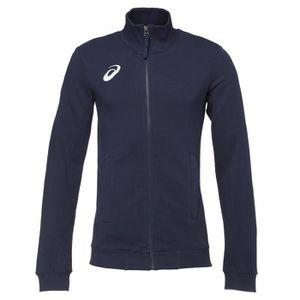 MAILLOT DE RUNNING ASICS Sweatshirt Zippée - Homme - Bleu marine