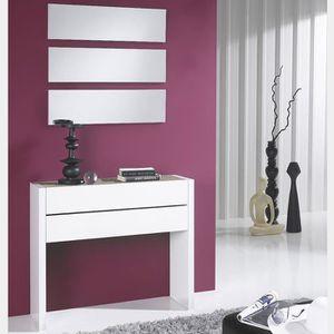 MEUBLE D'ENTRÉE Meuble d entrée moderne blanc et couleur bois clai