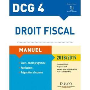 MANUEL UNIVERISTAIRE Livre - DCG 4 ; droit fiscal ; manuel (édition 201