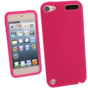 COQUE MP3-MP4 igadgitz Rose Étui Housse Silicone pour Apple iPod
