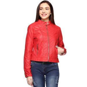 BLOUSON - VESTE Faux Veste en cuir pour femme JZYZV Taille-36