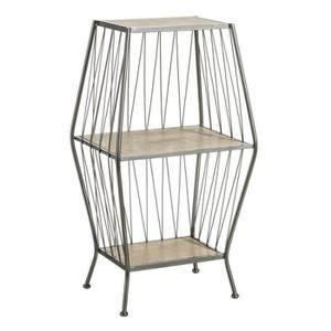 TABLE D'APPOINT Sellette 1 étagère Bois/Métal - BRUTUS n°1 - L 41