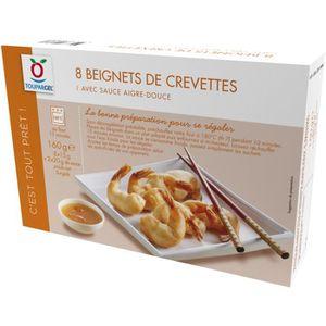 POISSON CUISINÉ Beignets de crevettes surgelés avec sauce aigre-do