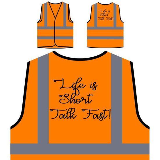 Orange Rapide À Personnalisée Courte la Est Veste Protection Visibilité Vie De H Haute wOqZZHTC