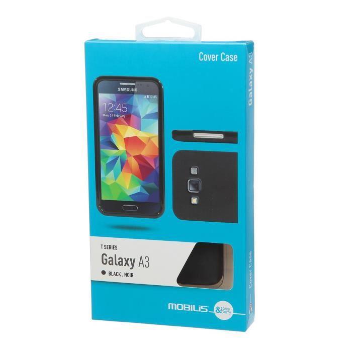 Mobilis Coque en silicone pour Samsung Galaxy A3 - Noir T-Series