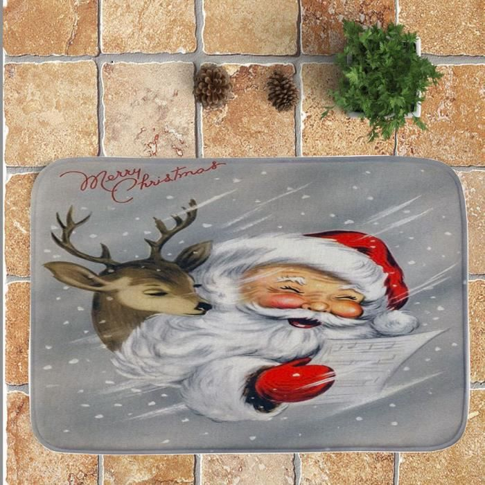 TAPIS Joerces® Joyeux Noël Bienvenue Paillassons Tapis D