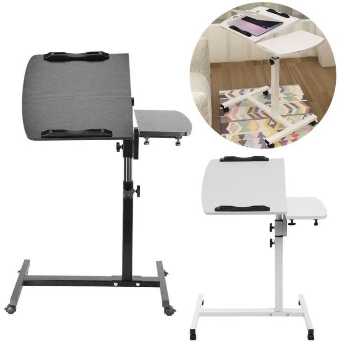 table pour ordinateur portable a roulette achat vente pas cher. Black Bedroom Furniture Sets. Home Design Ideas