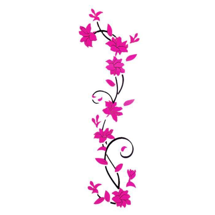 Fleur De Decoration Salon : Stickers mural d fleur rose fushia décor de la chambre