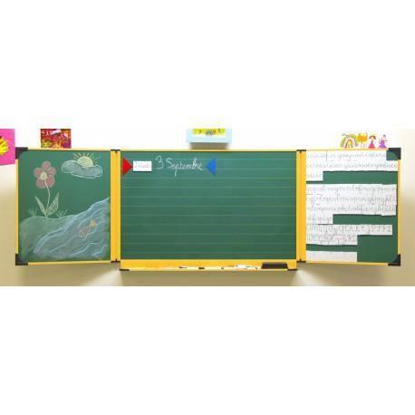 tableau cole enfant 60 x 100 cm blanc et vert encadrement. Black Bedroom Furniture Sets. Home Design Ideas