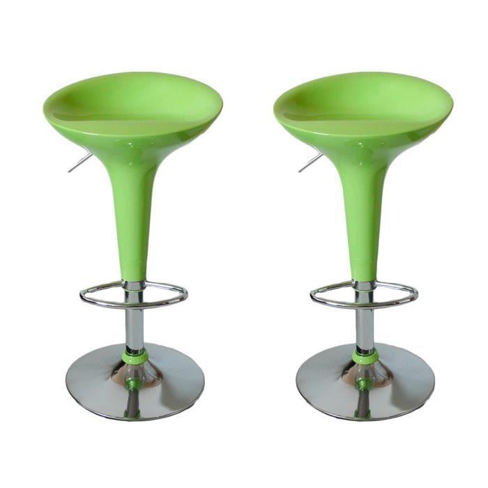Tabouret De Bar Vert Anis tabouret de bar vert anis - achat / vente pas cher