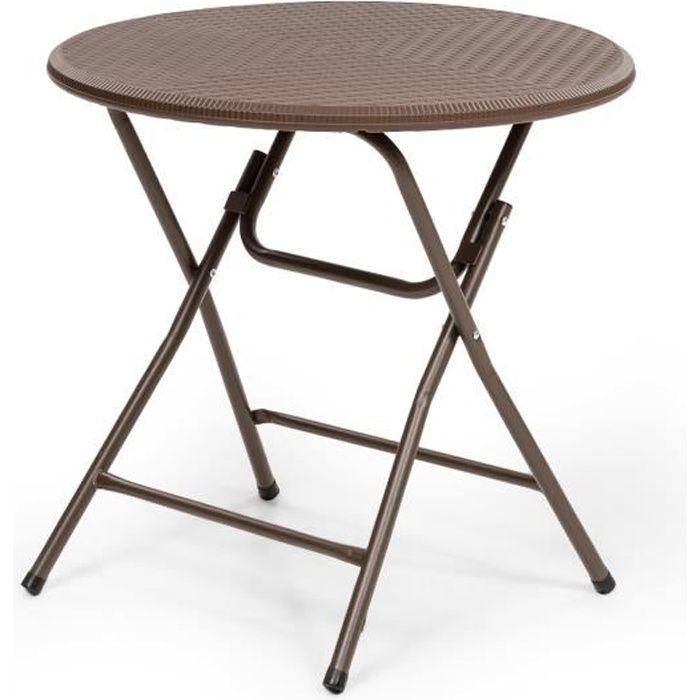 Table jardin ronde 4 personnes - Achat / Vente pas cher