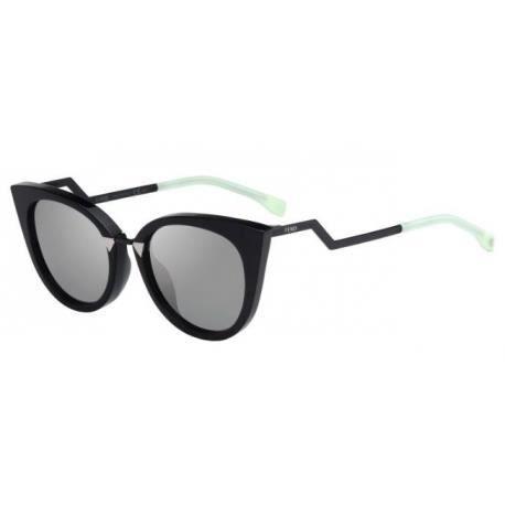 a9710518a906 Achetez Lunettes de soleil Fendi Femme FF 0118 S AQM (UE) noires ...