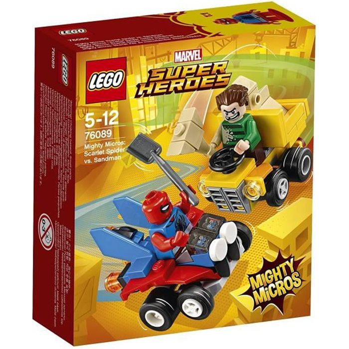 76089 Heroes MicrosSpider Lego® Mighty Sandman Marvel Man Contre Super H2WIYeED9