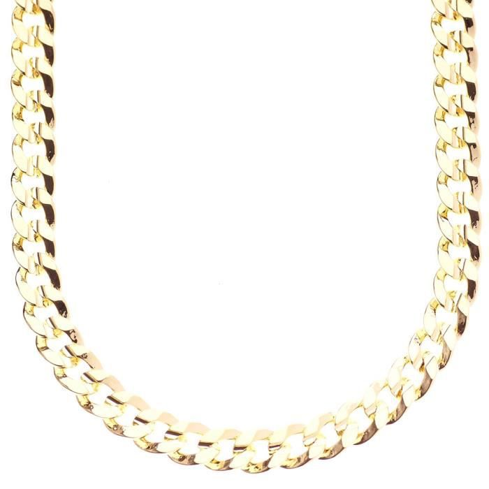 Iced Out Bling Hip Hop Curb Collier - 8mm or