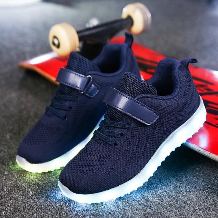 Chaussures décontractées pour enfants 2017 automne et hiver modèles garçons et filles mode coréenne LED lampe chaussures fantôme dan