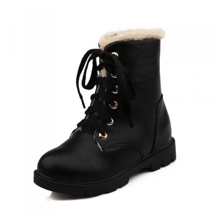 Femme Chaussures Loisirs Bottes Martin Bottes courtes épaisses et chaudes KvFOlDal