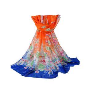 ... ECHARPE - FOULARD Printed Femmes New Mode en mousseline de soie long ... aed8d74895d