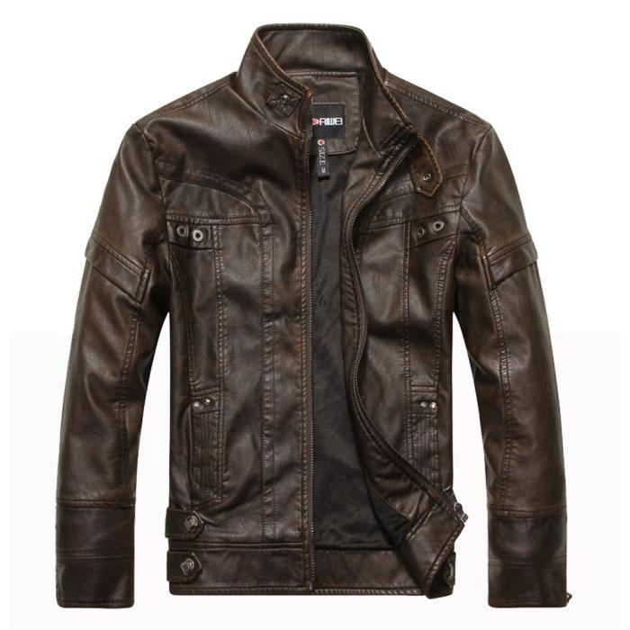 Hiver Schott Blouson xxxl Oakwood M Casual Leather Luxe Zipper Jacket Marron Marque Doublure Parka Veste Matelassé Homme Moto Cuir R1TZ14wI