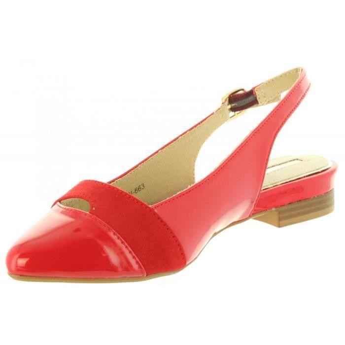 66977 Rojo Femme Pour C23914 Ballerines Maria Mare qRpwTUx
