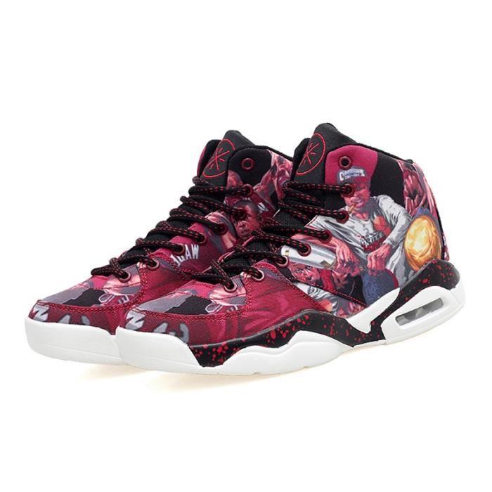 Bottes pour HommeBourgogne 44 Mode homme Chaussures de coussin d'air Casual courtes _21688
