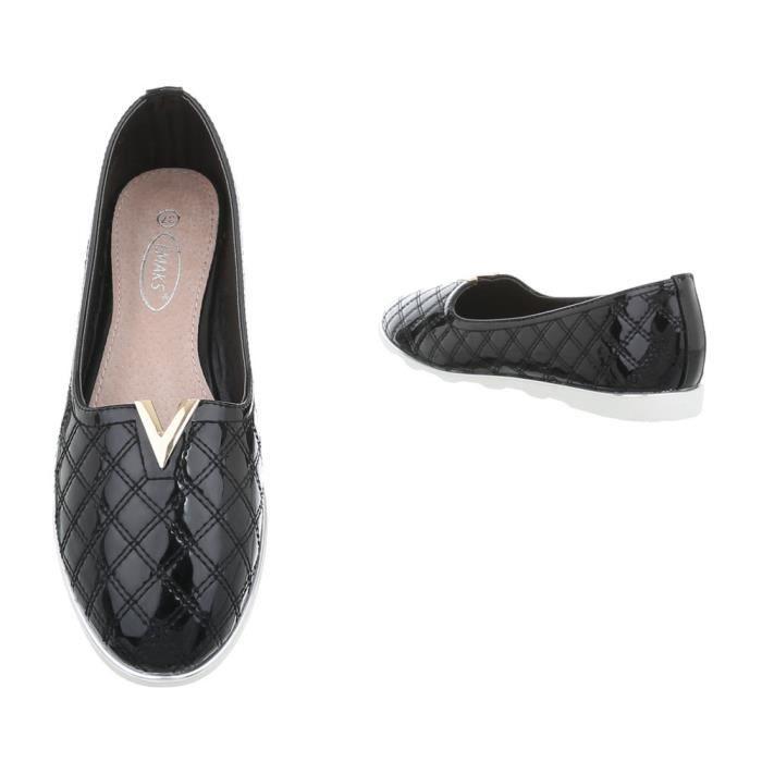 Babouche Fl Femme neurs Clair noir La Chaussures Noir 36 marron Gris qICwxnH