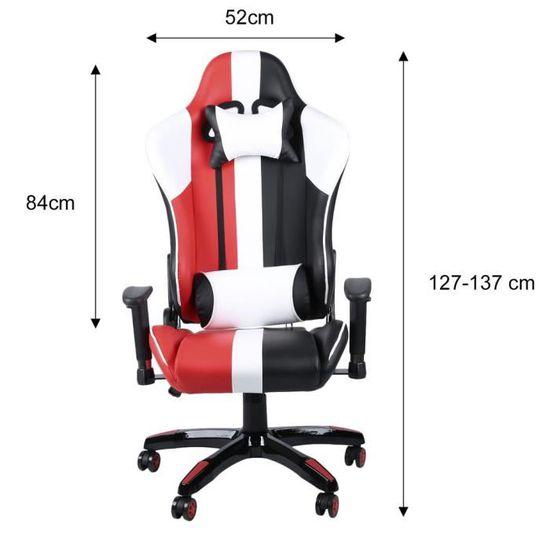 Fauteuil Rouge Bureau Jeu De Noiramp; Blanc Chaise Cours OXPk8wn0