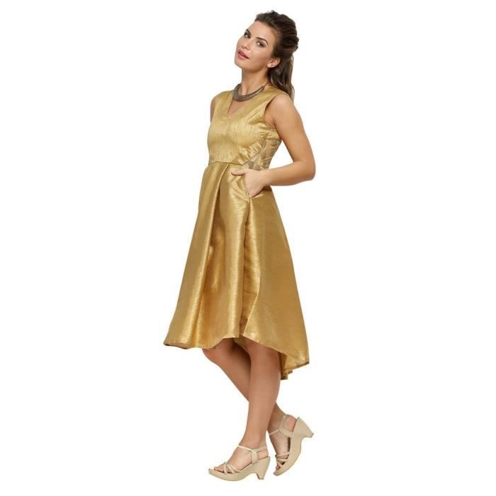 Mode féminine India Gold Robe couleur ZQZC3 Taille-36