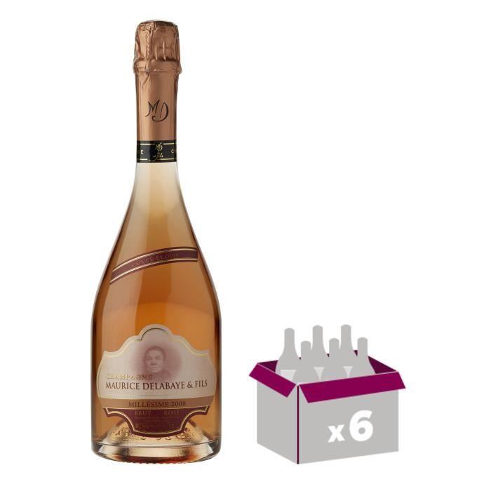 Maurice delabaye fils 2008 champagne brut rosé 75 cl x 6