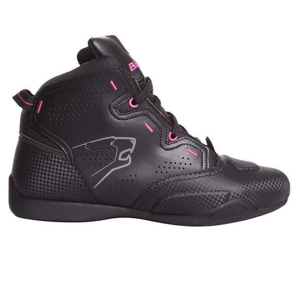 BERING Lady Chaussure Moto - Jasper - Noir - Fushia