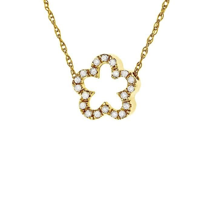 Diamond lane collier or jaune 750° et diamants femme