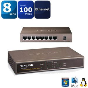 TP-LINK Switch 8 ports/4 PORTS POE 10/100 SF1008P
