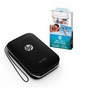 IMPRIMANTE Imprimante photo de poche HP + Papier photo adhési