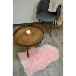 tapis salon peau de bete achat vente pas cher. Black Bedroom Furniture Sets. Home Design Ideas