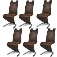 CHAISE  Chaise en PU Cantilever avec pieds en forme de U