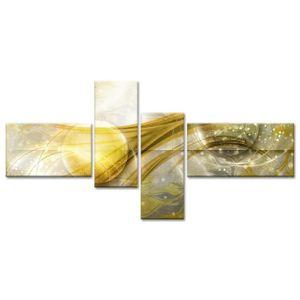 TABLEAU - TOILE Tableau Décoration Abstraite Bulles Design - 130x6