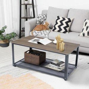 TABLE BASSE Table Basse Etagère De Rangement Design Industriel