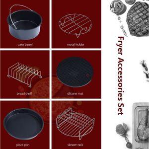 FRITEUSE ELECTRIQUE 6 en 1 Multifonctionnel Air Friteuse Accessoires S