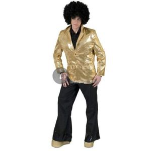 DÉGUISEMENT - PANOPLIE Veste disco à paillettes or homme taille m/l